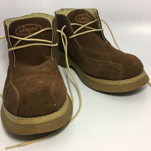 Kangol Rare Brown Leather Suede Ankle Bots Size 9M